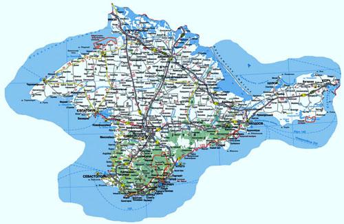 Карта транспортного сообщения ар крым