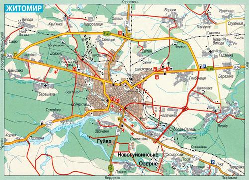 Карта житомира подробная карта