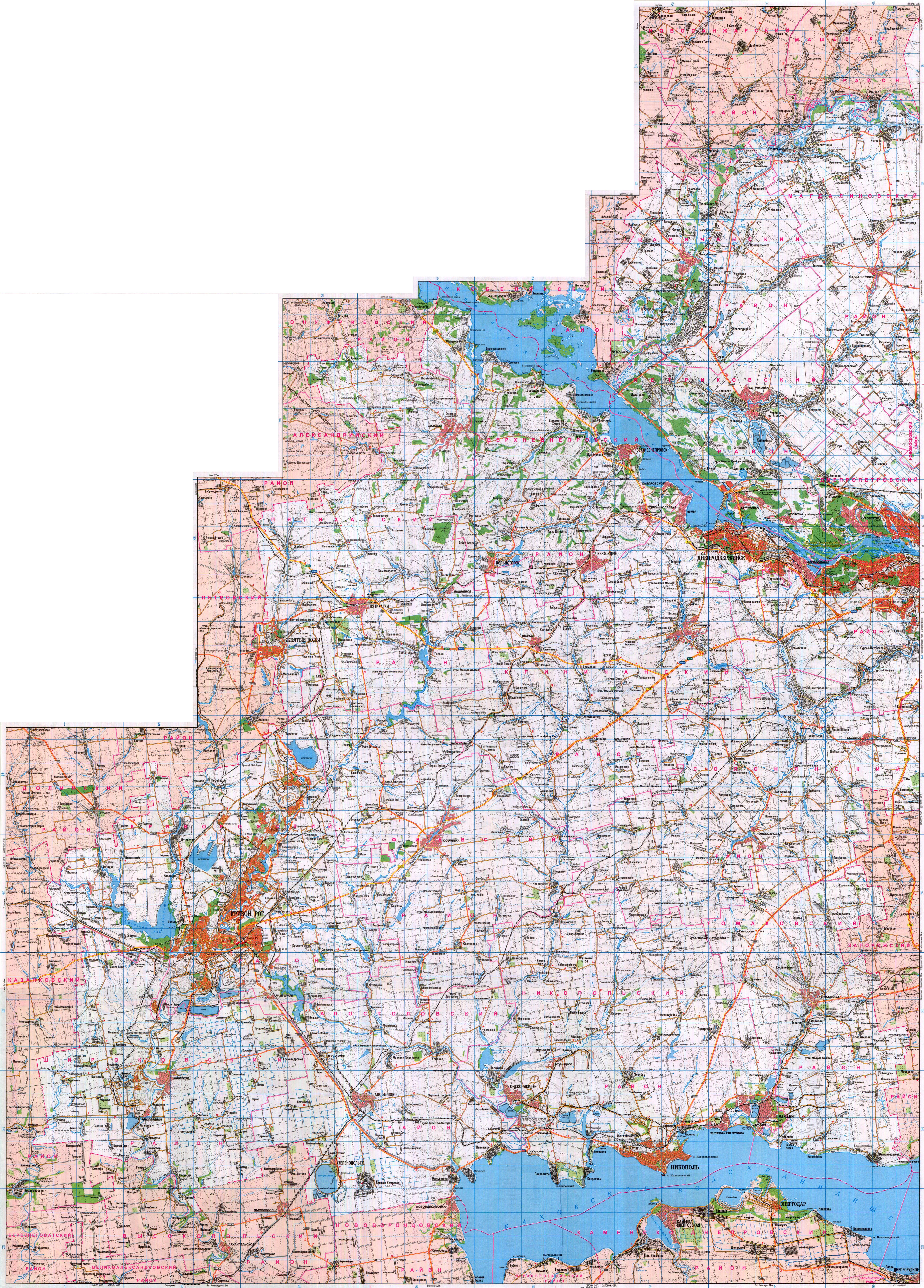 Топографическая карта Днепропетровской области. Карта ...  Карта Донецкой Области