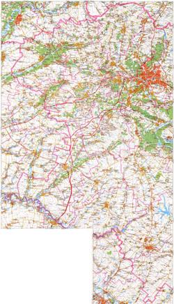 Карта харьковской области карта